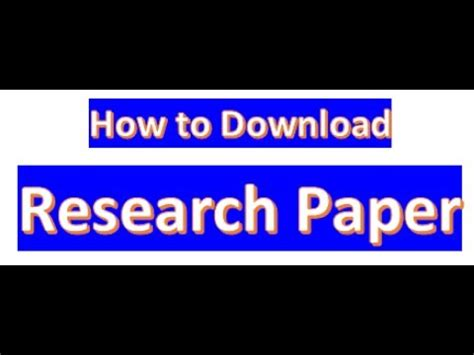 how to publish a research paper in ieee journal PDF